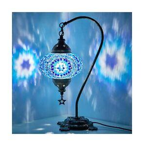 New BOSPHORUS Stunning Handmade Swan Neck Turkish Moroccan Mosaic Glass Table...