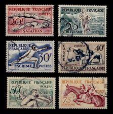 JEUX OLYMPIQUES de 1954, Oblitérés = Cote 18 € / Lot Timbres France 960 à 965