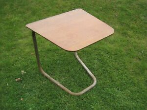 Retro Design STAPLES CANTILEVER Table WOODEN Adjustable HEIGHT Vintage