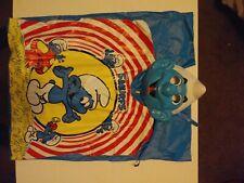 Vintage 70's 80's Smurfs Halloween Vinyl Costume & Mask Child Small