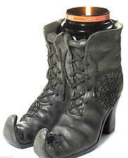 YANKEE CANDLE WITCHES BOOTS JAR CANDLE HOLDER NWTS RARE & HTF