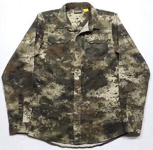 Cabela's Octane O2 Camo Long Sleeve Shirt Kids Boys Youth Size Large 14-16