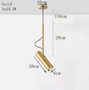 Bedside Pendant Light White Black Gold Rotating Hanging Restaurant Bar Kitchen