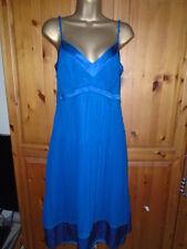 LOVELY FLOATY KAREN MILLEN BLUE CHIFFON SUMMER DRESS 12