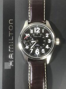 HAMILTON Khaki Field Officer Men's Mechanical 17J Watch H696190 10ATM Ø44mm