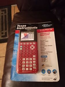 Texas Instruments TI-84 Plus CE Color Graphing Calculator -  (Python red
