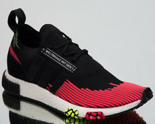 "adidas Originals NMD Racer Primeknit ""Solar Red"" Men's New Black Sneakers BD7728"