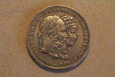 Austria-1-Gulden 1854 Franz Joseph I Wedding-2 Gulden - Franz Joseph I Silver