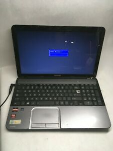 Toshiba Satellite L855D-S5117 Laptop for parts Boots to Locked BIOS NO HDD JR