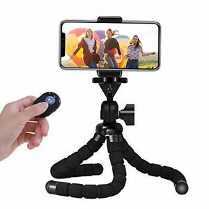 Tripod For Phone Mini Flexible Tripod Travel Stand Holder With Bluetooth Remote