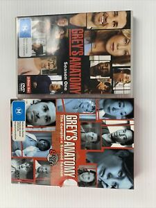 Grey's Anatomy Season 1 & 2 R4 DVD TV Show FREE TRACKED POST