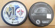 Vegas Golden Knights vs Winnipeg Jets STANLEY CUP PLAYOFFS match up puck 5/18