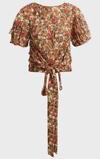ISABEL MARANT Floral Print Short Sleeved Silk-Blend Blouse. FR 38/UK 10