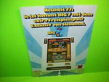 Hellomat Automaten BIG 7 Original Slot Machine Promo Sale Flyer German Text Rare