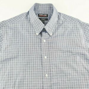 Kirkland Mens Long Sleeve Casual Shirt Custom Fit Non Iron Sz 42-86/89 SH120