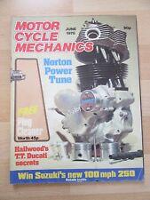MOTOR CYCLE MECHANICS 1978 June Yamaha RS125 Test XS 750 Service Honda Carb Tune