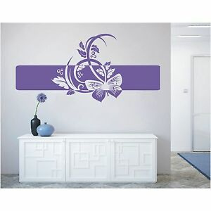 Banner Wandtattoo  Blumen Blüten Ranken Wandaufkleber Sticker Aufkleber Deko 6