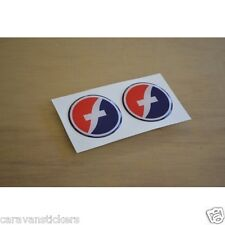 FLEETWOOD Caravan - (STYLE 2)(RESIN DOMED) - Wheelcap Stickers Graphics - PAIR