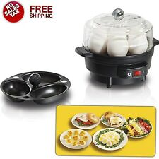 Electric Egg Cooker Hard Boiled Maker Omelette Poached Tray Built-In Timer New