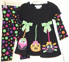 *BNWT*  Bonnie Baby Two Piece Halloween Ornaments Outfit Girl's Size 18 Month