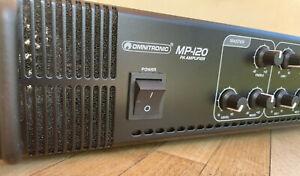 "OMNITRONIC MP-120 Mischverstärker Vorführgerät 19"" NEUWERTIG !! TOP !!"