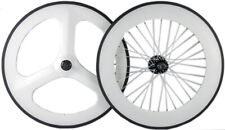 700C Front Tri Spoke Rear 88mm Carbon Wheelset Track Bike Carbon Wheels Clincher