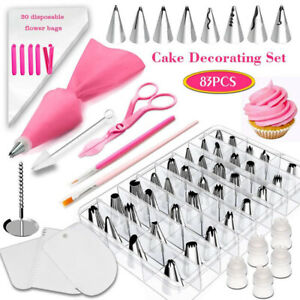 83 pcs/set Silicone Pastry Bag Tips Icing Piping Cream Pastry Bags + Nozzle Set