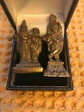 Two Vintage Brass/bronze Krishna Hindu Idol Statues