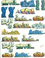 O SCALE GRAFFITI DECALS 071C FROM REAL GRAFFITI UNIQUE