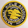 """NOS VINTAGE 3"""" SEW ON JACKET PATCH NRA MEMBERS NATIONAL RIFLE ASSOCIATION"""