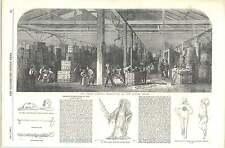 1856 MAGAZZINO DI TABACCO London molo ANTICA TUBI Messicano