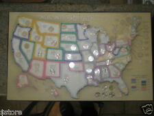 COMPLETE BU 50 State Quarters MAP WITH DC & TERRITORIES