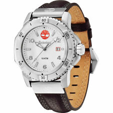 Timberland Charlestown Men's Watch Brown Leather Strap Rrp £115 GIFTS FOR HIM