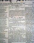 Rare 1861 Civil War CONFEDERATE New Orleans / Battle of Carnifex Ferry Newspaper