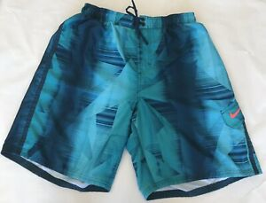 Nike Men's Size Large Surfing Swimming Summer Shorts Green Floral