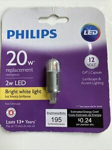 PHILIPS LANDSCAPE AND ACCENT LED BULB - 2W LED - BRIGHT WHITE LIGHT 046677458515