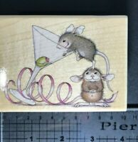 House Mouse - Olive A Party - Wood Mount Rubber Stamp - 1995 **RARE**