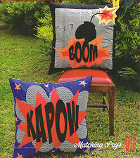 Comic Cushions - Applique Sewing Craft PATTERN - Marvel Super Hero Batman