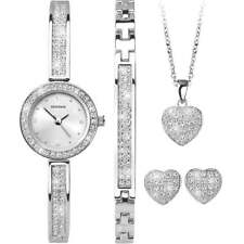 Sekonda el conjunto de Navidad Conjunto De Cristal Corazón Reloj como se ve en TV Elton John 2528G