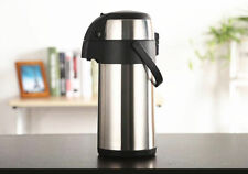 4 Litre Pump Press Airpot Flask Stainless Steel Thermos Coffee Tea Hot Cold Gift