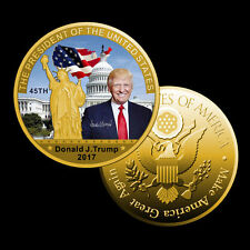 45Th US President Donald Trump Metal Coin 24K Gold Coin Collection Coin Gifts