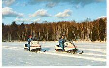 Vintage 1970'S Winter Sport Postcard Couple On Evinrude Snowmobiles Wisconsin #2