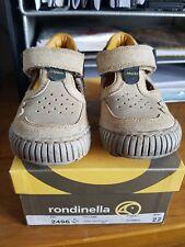 Rodinella size 5 eu 22 leather beige boys shoes BNIB