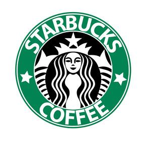 PRE CUT Starbucks Coffee Edible Icing Logo Cake Topper Birthday