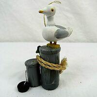 Kurt S Adler Seagull on Piling Christmas Ornament Handcrafted 1985 Vintage