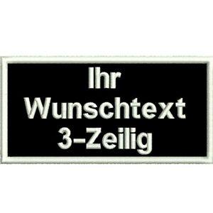NAMENSSCHILD Aufnäher Wunschtext gestickt Biker Patch FREIE FARBAUSWAHL m. KLETT