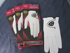 3 CALLAWAY DAWN PATROL LEATHER GOLF GLOVES SIZE EXTRA LARGE 3 NEW MENS