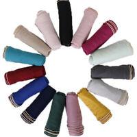 Women Ladies Scarf Golden Beads Cotton Muslim Muffler Hijab Wraps Shawl Scarves