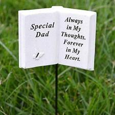 Special Dad Memorial Book Tribute Stick with Message