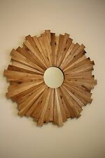 Handmade Sunburst Mirror made from 100% reclaimed wood!